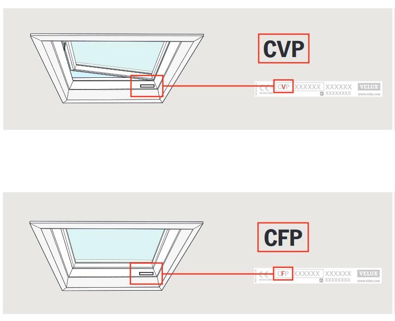 typenschild velux flachdachfenster