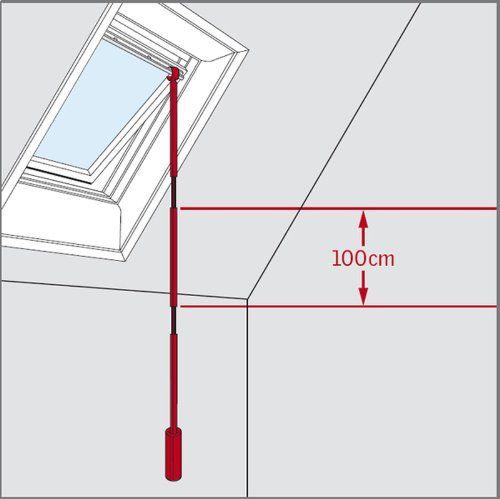 VELUX ZCT 100 Verlängerungsstange 100cm für Teleskop Bedienungsstange