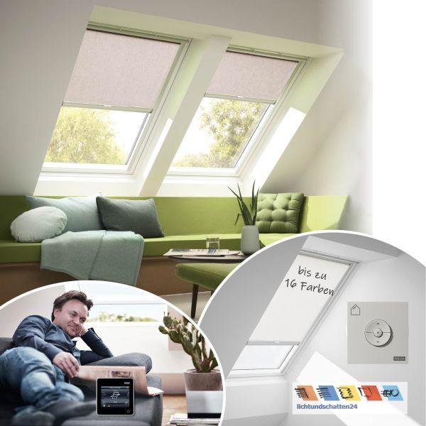 VELUX Solar Sichtschutzrollo RSL mit Funkwandschalter in 16 Farben